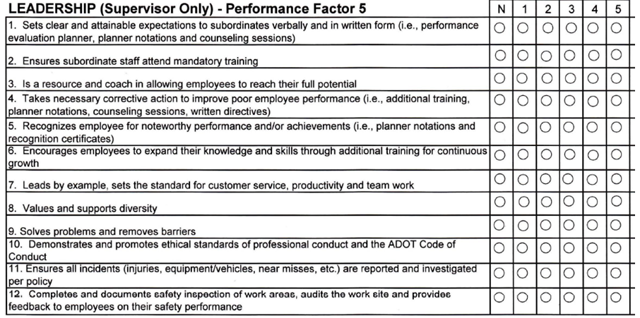Performance assessment in engineering get them to like for Leadership evaluation form templates
